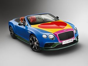 Bentley continental gt v8 s convertible в стиле поп-арт