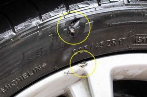 Что делать, если на ходу пробито колесо?