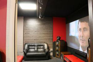 Экраны для проекторов в домашнем кинотеатре.