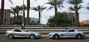 Mercedes benz sls amg пришел на замену мерседес макларен (slr)