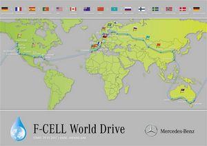 Мировой автопробег от mercedes benz (f-cell world drive) в алматы!