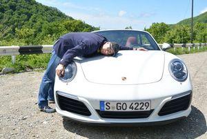 Porsche 911 cabrio new мкпп! на горных дорогах сочи