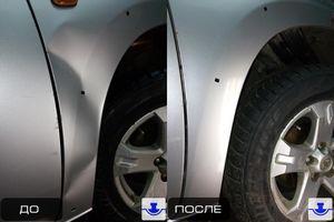 Удаление вмятин без покраски автомобиля