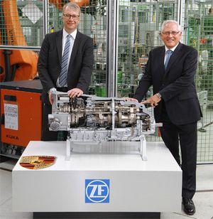 Zf запускает производство новой 8-ступенчатой коробки передач с двумя сцеплениями